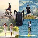 10L Mini Cylindre de FAHRENDER Sac à dos étanche, sac d'hydratation jarvan avec 2L eau vessie Vélo Sac à dos de ski Biking Bag, respirante épaule Sac à dos pour Outdoor Sport Camping Randonnée légères de la marque image 6 produit