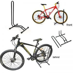 2–Support pour vélo Sport Cyclisme Vélo simple sol Rack support de rangement garage Stationnement de la marque image 0 produit