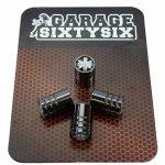 4bouchons de valve UK Noir et Blanc en noir chromé/Modèle: Detroit de la marque image 2 produit