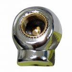 Aerzetix: 4 bouchons de valve auto vélo moto en forme de tête de mort couleur nickel C19898 de la marque image 1 produit