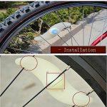 agooding 4pièces multicolore voiture vélo Roue Valve du pneu bonnet rayons Néon LED Lampe/Lampe de sécurité pour rayons de roue de rayons lumineux rayons de vélo/LED/LED lumière, Type B de la marque image 2 produit