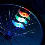 agooding 4pièces multicolore voiture vélo Roue Valve du pneu bonnet rayons Néon LED Lampe/Lampe de sécurité pour rayons de roue de rayons lumineux rayons de vélo/LED/LED lumière, Type B de la marque image 3 produit