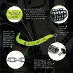 Antivol pour vélo avec code numérique et chaîne extra forte: ALL LEMON - Serrure à combinaison de 90 cm de longueur et code de sécurité à 5 chiffres en style urbain | Serrure de sécurité pour vélo, cyclomoteur et moto | Serrure à chaîne de la marque image 2 produit
