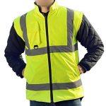 Babimax Gilet Réfléchissant Imperméable Gilets de Sécurité Anti-vent Vêtements Réfléchissants en Coton Vestes Sécurité Veste Fluorescente Manteau Route 7 en 1 Jaune Autoroute Police Travail de la marque image 2 produit