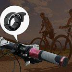 Bike Bell, HTINAC Sonnette de Vélo Aluminium, Sonnette de Cyclisme Q Design Invisible pour Montée sur Guidon de 22,2 mm à 23 mm de la marque image 2 produit