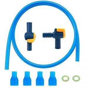 Bite Valve de remplacement pour bec Coque pour sac d'hydratation Poche à eau (lot de 4), 1pièce à 90° et 1pcs droites Arrêt avec tube de joint torique et FO Eau Sac à dos, convient pour la plupart des marques de la marque image 0 produit