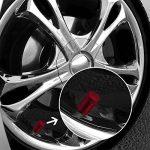 Bouchons de Valve en Aluminium Casquettes Anti Poussière de Voiture Tige de Roue de Pneu Capuchons de Poussière de la Valve, 8 Pièces (Rouge) de la marque image 2 produit