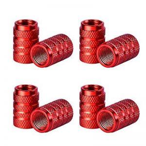 Bouchons de Valve en Aluminium Casquettes Anti Poussière de Voiture Tige de Roue de Pneu Capuchons de Poussière de la Valve, 8 Pièces (Rouge) de la marque image 0 produit