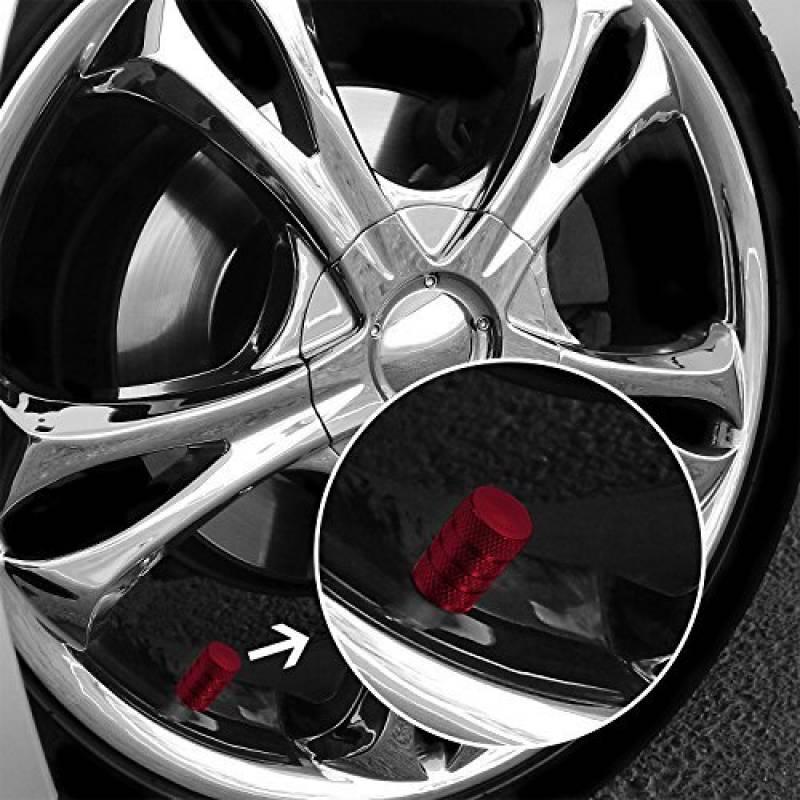 Capuchons en m/étal pour Voiture Moto v/élo pneus Capuchons Capuchons de Valve en dor/é kwmobile 5en1