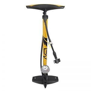 BV Pompe à pied en acier pour vélo avec manomètre 160 PSI 11 bars valves Presta et Schrader réversibles pompe a velo … de la marque image 0 produit