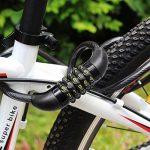 """Cadenas à Combinaison de Vélo avec Support et Crochet Alu en Forme D, FineGood 5 Chiffres Antivol Serrure de Câble Bobine pour Byciclette, avec 3"""" Crochet en Aluminium de la marque image 4 produit"""