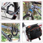 Cadenas de Vélo iRegro câble de sécurité antivol avec lumière LED avec 4 chiffres Intelligent Code antivol vélo câble verrouille pour portes en verre clôtures portes vélos motos de la marque image 3 produit