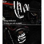 Cadenas de Vélo iRegro câble de sécurité antivol avec lumière LED avec 4 chiffres Intelligent Code antivol vélo câble verrouille pour portes en verre clôtures portes vélos motos de la marque image 4 produit