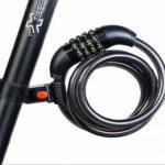 Cadenas de vélo, Rixow Câble de sécurité antivol meilleure combinaison pour l'extérieur de vélos, Couleur Noir de la marque image 5 produit