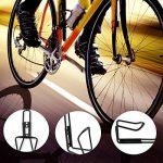 Cage de bouteille d'eau de vélo, alliage WisFox 2 paquets de bicyclette à eau de vélo à bicyclette à vide pour vélos de route et de montagne (noir et argenté) de la marque image 6 produit