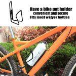 Cage de bouteille d'eau de vélo, alliage WisFox 2 paquets de bicyclette à eau de vélo à bicyclette à vide pour vélos de route et de montagne (noir et argenté) de la marque image 4 produit