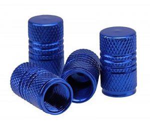 Capuchon Valve rond anodisé métallique en aluminium Bleu Lot de 4bouchons de valve set de 4etu24® de la marque image 0 produit