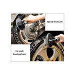 Cargool Roue Brosse de nettoyage de voiture en T Jante Brosse antidérapant Pneu de vélo Brosse de nettoyage Gris de la marque image 4 produit