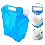 CAVN Poche Sac à Eau Réservoir d'eau Portable [5L + 10L] pour Randonnée Camping Picnic Voyage BBQ, [Plastique PE] [BPA gratuit] [Non toxique] [INodore] de la marque image 1 produit