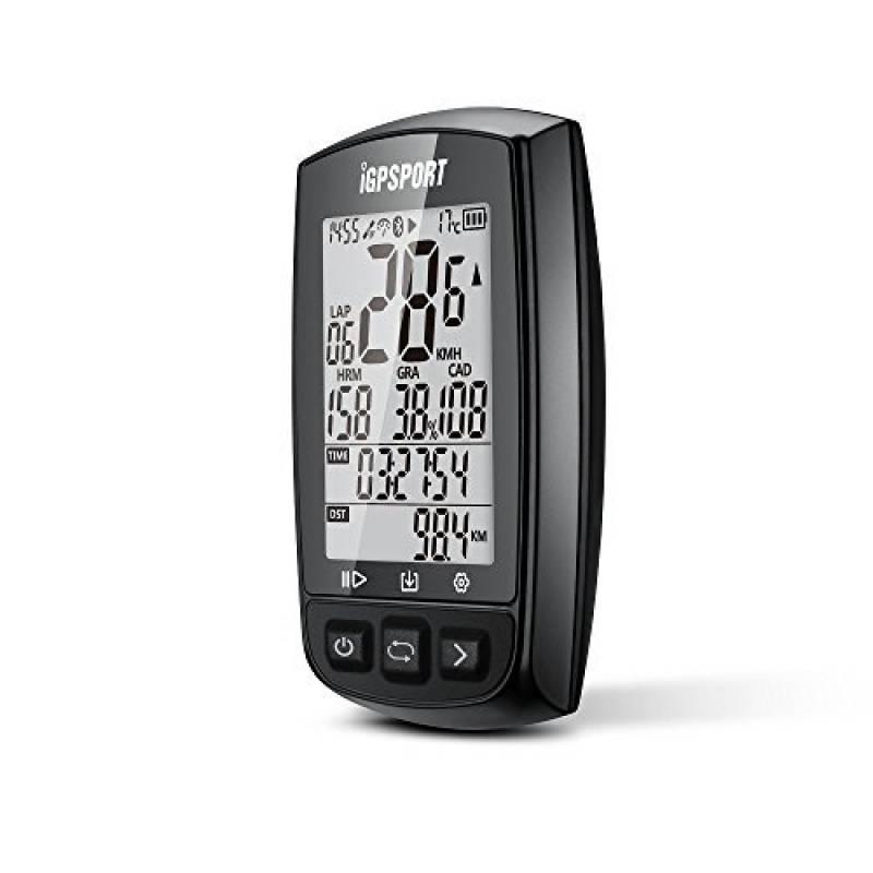2d008888085 GPS Compteur vélo avec fonction ANT + iGPSPORT iGS50E avec le moniteur de fréquence  cardiaque d appui de grand écran et la connexion de capteur de cadence ...