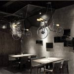 Créatif Industriel Rétro Style vélo Fer Lustre Vintage Classique Café Couloir Suspensions Luminaires Décoration de Maison Bar Cuisine salon Restaurants Club Luminaire suspendu E27 Ampoule de la marque image 1 produit