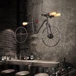 Créatif Industriel Rétro Style vélo Fer Lustre Vintage Classique Café Couloir Suspensions Luminaires Décoration de Maison Bar Cuisine salon Restaurants Club Luminaire suspendu E27 Ampoule de la marque image 2 produit