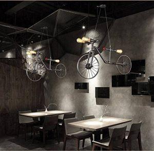 Créatif Industriel Rétro Style vélo Fer Lustre Vintage Classique Café Couloir Suspensions Luminaires Décoration de Maison Bar Cuisine salon Restaurants Club Luminaire suspendu E27 Ampoule de la marque image 0 produit