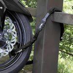 CROPS Chaîne antivol en acier Pro K5-66 – Acier 6x6 mm super résistant – longueur 110 cm – verrouillage à l'aide d'une combinaison à 5 chiffres – pour vélo scooter mobylette – haute sécurité de la marque image 2 produit