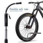 E-PRANCE Mini Pompe à Vélo (130Psi) Pompes à main cyclisme avec Support de Fixation et aiguille à boule Compatible avec Valves Presta et Schrader en alliage d'aluminium de la marque image 4 produit