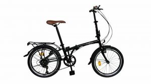 Ecosmo 20TF01BL Vélo urbain pliant 50,8 cm, 6 vitesses de la marque image 0 produit
