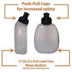 Efanr Lot de 2bouteilles d'eau 241gram sans BPA LeakProof Bouteille pour Adalid Gear Ceinture d'hydratation Convient pour la plupart des cours ceintures de carburant et Fanny Packs de la marque image 2 produit
