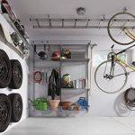 Element System 18133-00117 Lot de 2 crochets supports de vélo à fixer au plafond Aluminium blanc H x P: 85x 160mm de la marque image 1 produit