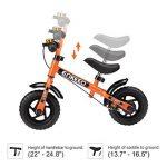 Enkeeo - Draisienne Vélo Enfant, Vélo Sans Pedale Enfant avec la cloche et le frein à main pour les enfants de 2-6 ans, cadre en acier au carbone, guidon réglable et Seat, capacité de 50kg de la marque image 1 produit