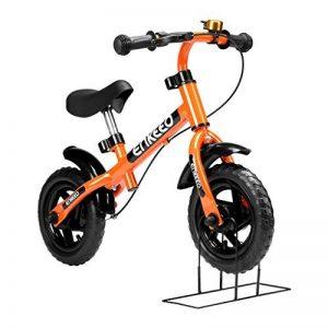 Enkeeo - Draisienne Vélo Enfant, Vélo Sans Pedale Enfant avec la cloche et le frein à main pour les enfants de 2-6 ans, cadre en acier au carbone, guidon réglable et Seat, capacité de 50kg de la marque image 0 produit