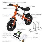 Enkeeo - Draisienne Vélo Enfant, Vélo Sans Pedale Enfant avec la cloche et le frein à main pour les enfants de 2-6 ans, cadre en acier au carbone, guidon réglable et Seat, capacité de 50kg de la marque image 6 produit