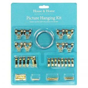 Ensemble de 60pièces de suspension pour cadre photo, crochets, fils de fer clous, punaises, toile, miroir. de la marque image 0 produit