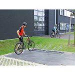 EUROKRAFT Range - vélos – étriers en tube d'acier, entrée 1 côté 6 places - Etrier Support Support cycles Support isolé Support pour bicyclettes Support pour cycles Support pour vélos Montant Montants Support-cycles Supports cycles Supports-cycles de la m image 2 produit