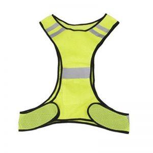 Exoh Course à Pied Jogging Cyclisme réfléchissant de sécurité Gilet de sécurité–Fluorescence Jaune de la marque image 0 produit