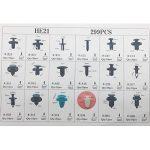 FEZZ 299pcs Clips Agrafe Plastique Rivets Garnissages Pare-chocs Panneaux de Portes Auto Voiture Universel avec Boîte De Rangement de la marque image 6 produit