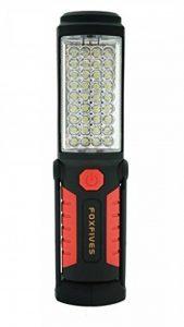 Foxfive, lampe d'inspection, de camping mains libres, de travail, de garage, d'urgence avec crochet de suspension et base aimant, 36, 5 DEL, rouge de la marque image 0 produit