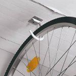 GAH Alberts 801991 Crochet pour vélos coudé pour Fixation au plafond en Acier 90 x 115 mm Galvanisé Bleu de la marque image 1 produit