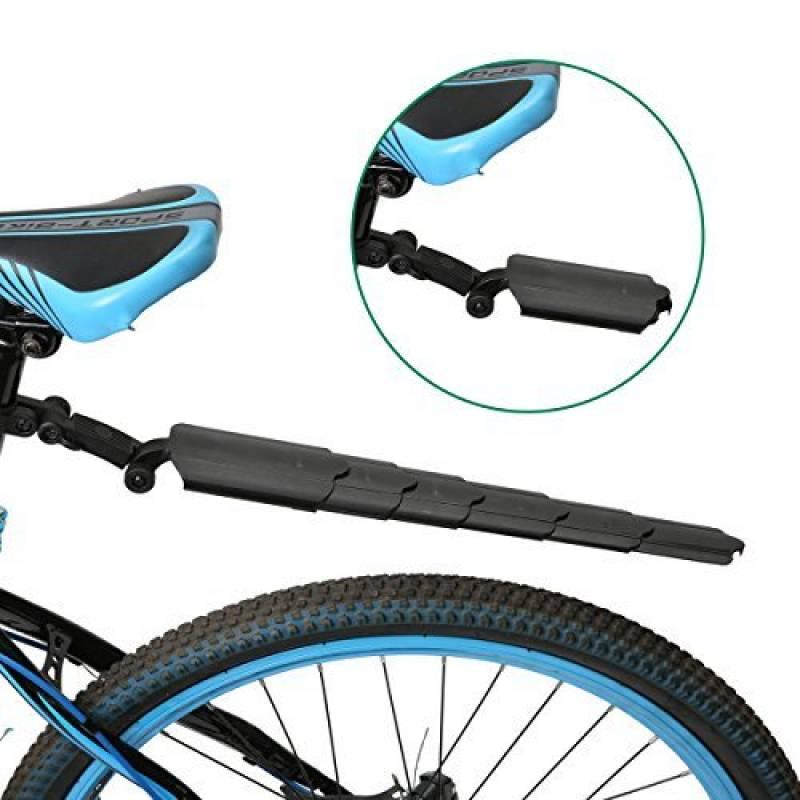 Noir DSstyles Bike Mudguard Foldable Saddle Mud Flap Fender pour MTB Mountain Road Bike