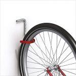 gedotec® Vélo crochets pour montage mural & plafond Crochet mural–en acier galvanisé caoutchouc–150x 150x 120mm–Support de vélo avec charge max. 20kg–Produit de qualité pour votre intérieur de la marque image 1 produit