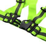 Gilet Réfléchissant, AGPtek 2-en-1 Haute Visibilité Gilet de Sécurité Réfléchissant Réglable Elastique Gilet de Sécurité Harnais et Brassard, Ajustement pour la Course, le Jogging, le Vélo, la Marche, la Moto de la marque image 5 produit