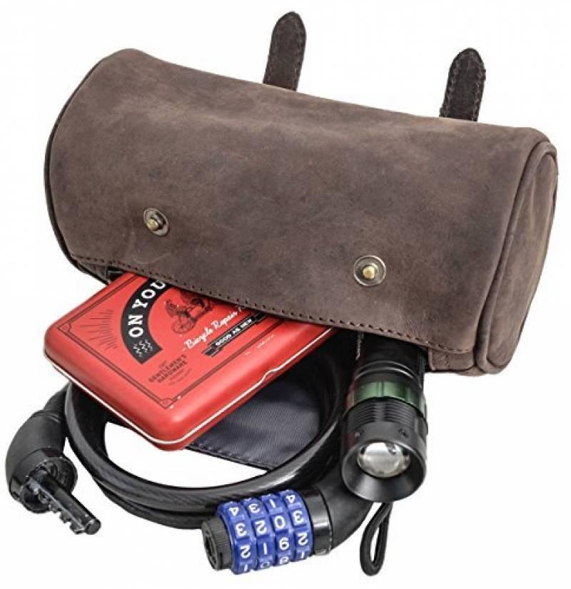 """978dba71b6 Gusti Cuir studio """"Judith A."""" sac pour vélo sac de cadre pour panier  sacoches de guidon sac en cuir véritable sac d'outil sac vélo avec doublure  imperméable ..."""