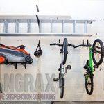 hangrax Suspension innovante Solutions–Taille: Large & Couleur: Transparent–Simple stockage de garage pour planche de surf, snowboard, vélo, canoë,, câbles électriques, etc.–Distribuée par gorillaspoke cleantechstore de la marque image 2 produit
