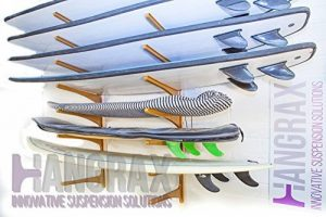 hangrax Suspension innovante Solutions–Taille: Large & Couleur: Transparent–Simple stockage de garage pour planche de surf, snowboard, vélo, canoë,, câbles électriques, etc.–Distribuée par gorillaspoke cleantechstore de la marque image 0 produit