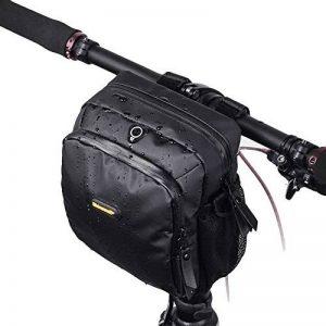 Huntvp 4L Sacoche Pour Guidon De Vélo Sac Panier Avant Imperméable Pour Vélo Sac de Protection Avec Couverture de Pluie Anti-Pluie Pour Cyclisme Noir de la marque image 0 produit