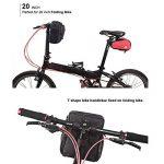 Huntvp 4L Sacoche Pour Guidon De Vélo Sac Panier Avant Imperméable Pour Vélo Sac de Protection Avec Couverture de Pluie Anti-Pluie Pour Cyclisme Noir de la marque image 5 produit