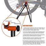 Ibera béquille pliable hauteur réglable bequille ajustable en acier pied d'atelier réparation vélo de la marque image 3 produit